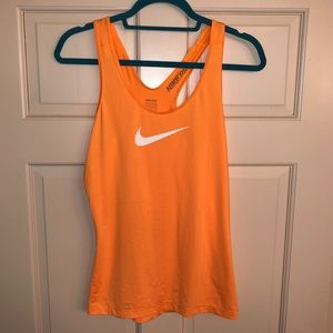 Orange Nike Dri Fit Tank Top